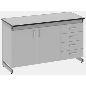 Стол лабораторный пристенный - 3.081.05