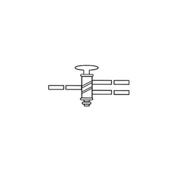 Трехсторонний кран, 4 мм