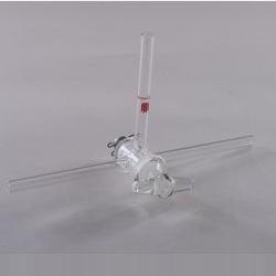 Т-образный кран со стеклянный сердцевиной, 2 мм