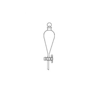 Воронка делительная, грушевидная со стеклянным краном, 125
